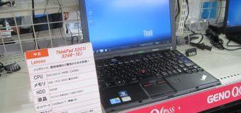 【難あり特価】ThinkPad X201i 入荷しました