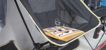 【行楽に】キャリーバッグ付き折り畳みチェア・背もたれ付き【どうぞ】
